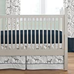 Carousel-Designs-Navy-and-Gray-Woodland-3-Piece-Crib-Bedding-Set