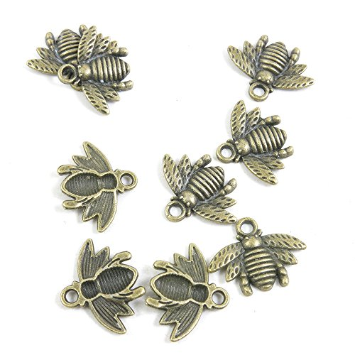 10 Pieces Wholesale Retro Vintage Bijou Jewelry Making Supply Charms Findings Bronze Tone K7NF9 Bees