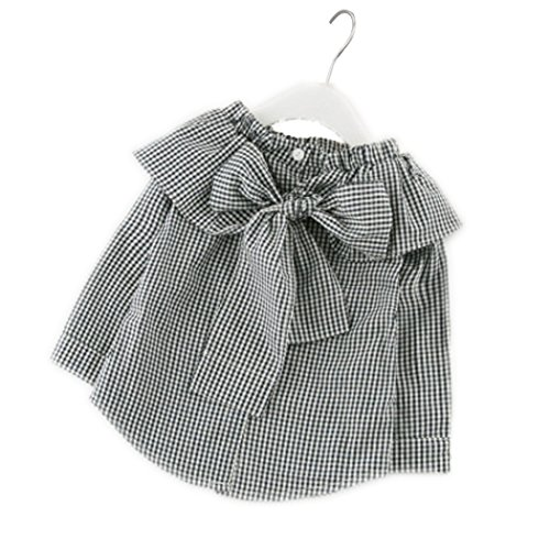 Colorful Childhood Little Girls Plaid Blouse Kids Long Sleeve Peter Pan Collar Shirt Spring Autumn Tops Black Size (Childhood Plaid)