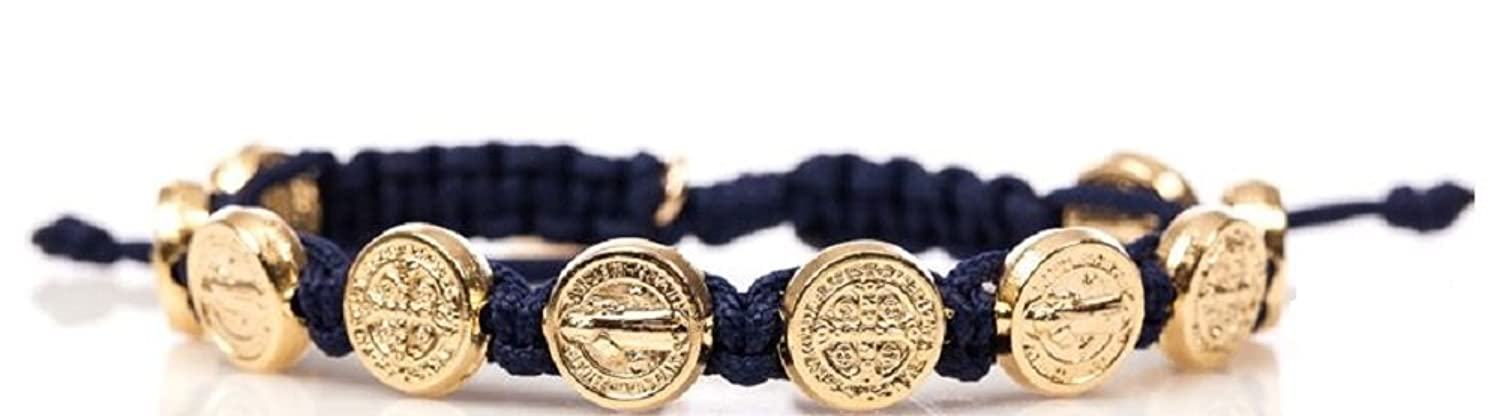 Navy Blessing Bracelet with Gold Medals.