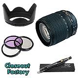 AF-S DX NIKKOR 18-105mm f/3.5-5.6G ED VR DSLR Lens + Closeout Factory Lens Deluxe Starter Kit For Nikon D5000 Digital SLR Cameras - Package Includes: Nikon AF-S DX NIKKOR 18-105mm f/3.5-5.6G VR II + Multi-Coated 3 Piece Filter Kit (UV-CPL-FLD) + Pro Tulip