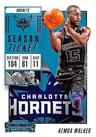 a2fdabd5429 2018-19 Panini Contenders Season Ticket #4 Kemba Walker Charlotte Hornets  NBA Basketball Trading