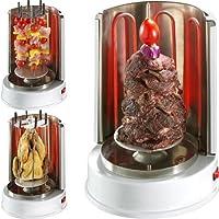 Spießgrill XXL silber Skewer Grill Balkon ✔ rund ✔ Grillen mit Elektrogrill ✔ für den Tisch