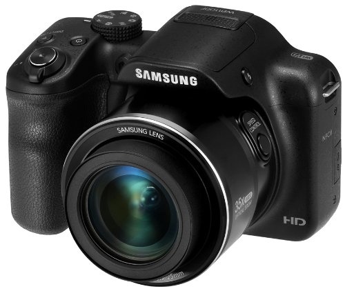 Samsung WB1100F 16.2MP CCD Smart WiFi & NFC Digital Camera with 35x Optical Zoom, 3.0