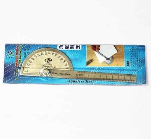 Stainless Steel Angle Finder Meter Protractor Gauge Scale Ruler TSS-180