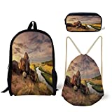 Best River's Edge Products String Lights - iPrint Schoolbag,Pencil Box,Drawstring Bag,Backpacks,3D Print,Ukraine River Reflection Rural Review