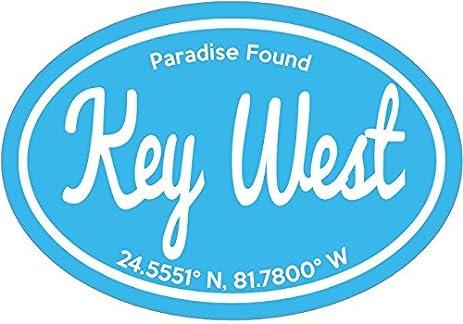 Florida keys decal oval paradise found key west vinyl sticker florida keys bumper sticker