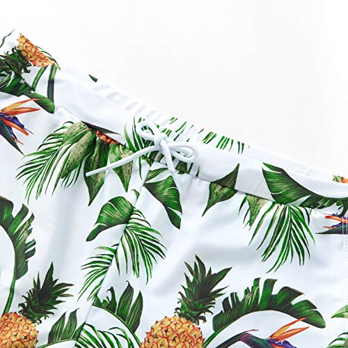 cb94fb2620 Yaffi Family Matching Swimsuit 2019 Newest One Piece Pineapple Printed  Ruffles Monokini Off Shoulder Bathing Suit