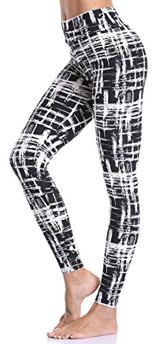Aenlley Women's High Waist Printed Spandex Leggings - Ultra Soft Workout Legging Color Size One Size