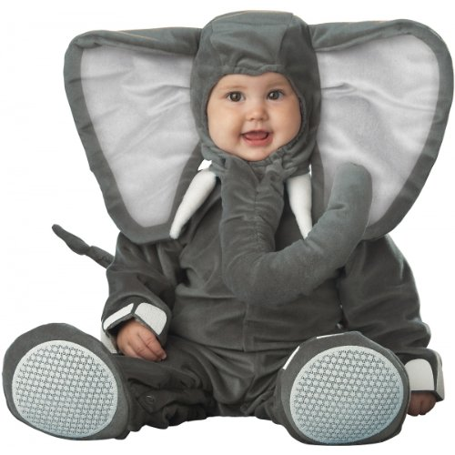 (InCharacter Costumes Baby's Lil' Elephant Costume, Grey, Small/6-12)