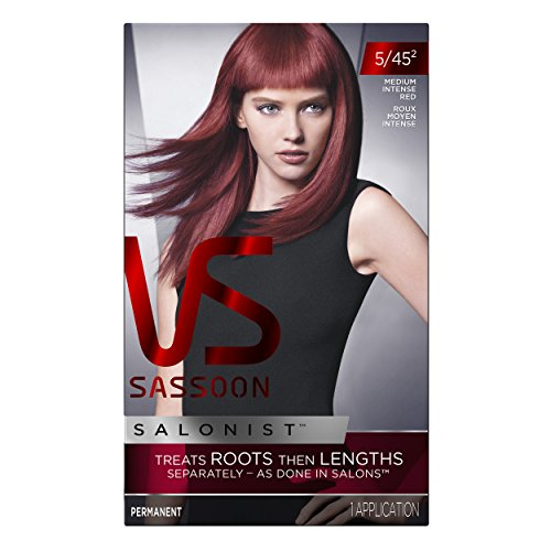Vidal Sassoon Salonist Hair Colour Permanent Color 5/45 2 Medium Intense Red Kit (PACKAGING MAY (2nd Colour)