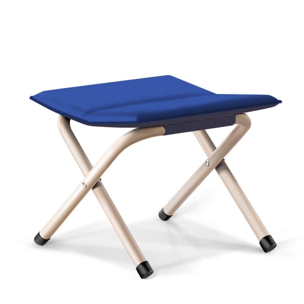 Upholstered Padded stools Footstools Folding Stool Portable Lightweight Folding Chairs Aluminum Fishing Seat Linen Fabric With Cushion Available Green Ideal For Camping Walking Camping Hiking Festival