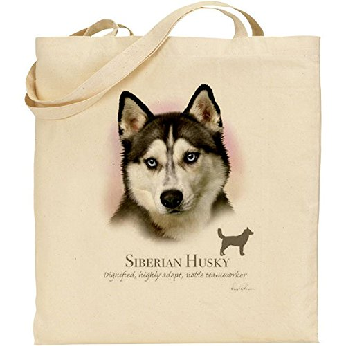 Howard Robinson Siberian Husky-Sacco in cotone, colore: naturale