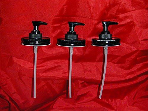 Mason Jar Lotion/Soap dispenser - Black Triple Pack (Mason Jar Soap Pump compare prices)