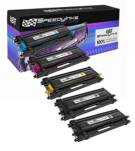 Speedy Inks - Remanufactured Brother TN110 / TN115 Set of 5 Laser Cartridges: 2x TN115BK Black, 1x TN115C Cyan, 1x TN115M Magenta, 1x TN115Y Yellow