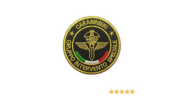 Parche de policía nacional táctico militar bordado Morale coser en emblema Patch Applique para chamarra Gear Cap Hat Mochila Italy