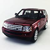 Range Rover Sport SUV, Maroon Kinsmart 1:38 DieCast Model Toy Car Collectible