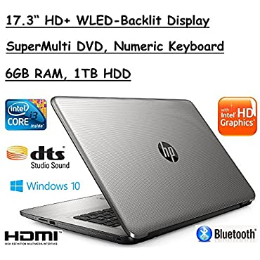 Flagship Model HP 17.3 Premium High Performance HD+ WLED-Backlit Laptop, Intel Core i3-5005U, 6GB RAM, 1TB HDD, Windows 10