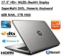 "Flagship Model HP 17.3"" Premium High Performance HD+ WLED-Backlit Laptop, Intel Core i3-5005U, 6GB RAM, 1TB HDD, Windows 10"