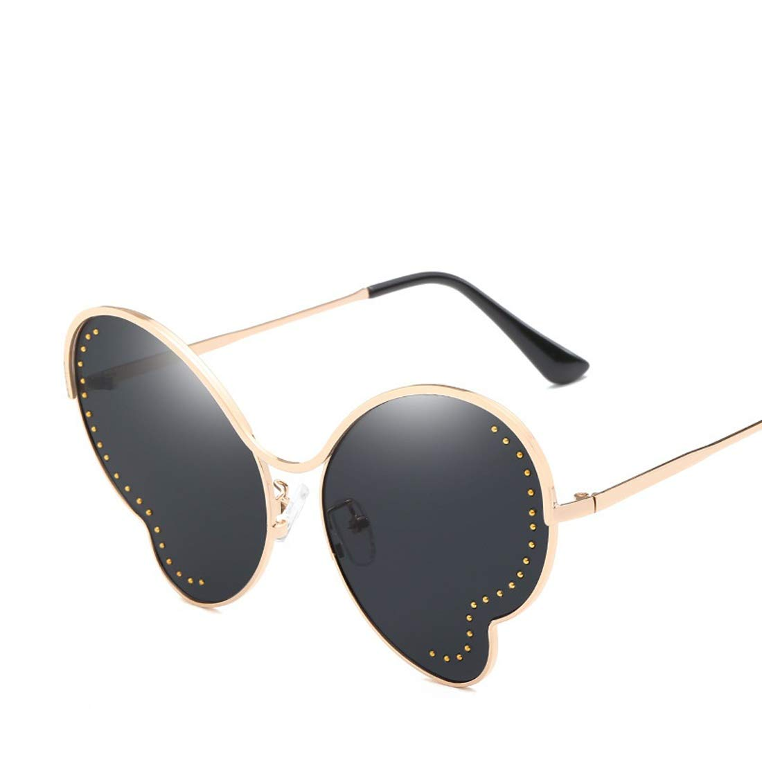 Wsunglass New Xiangyun butterfly sunglasses Lady Metal Cat Eye Sunglasses steel beads decorated with the same/_1