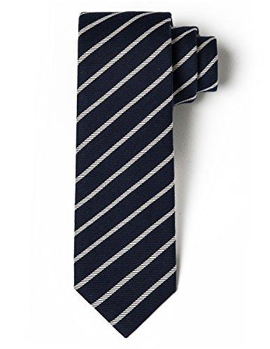 Origin Ties Men's Silk Skinny Tie Handmade Diagonal Reep Striped 2.25