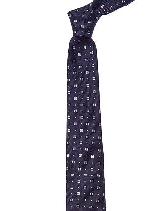 Reiss Mens Navy Square Dot Silk Tie Os Blue At Amazon Men S