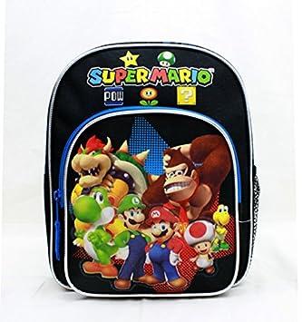 Mini Backpack - Nintendo - Super Mario Group Black 10 New SD28261 by Super Mario Brothers: Amazon.es: Juguetes y juegos