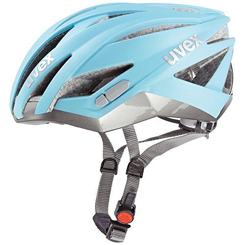 - Uvex 2015 Unisex Ultrasonic Race Helmet Light Blue Silver Small 52-56cm