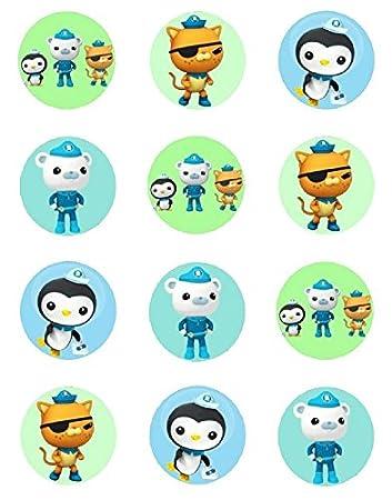 Amazoncom Octonauts Assorted Edible Cupcake Toppers Set of 12