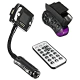 Lollipop MP3 Player Car Fm Transmitter for SD Card, USB Stick, Mp3 Players with Remote Control