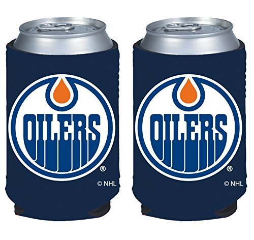 fan products of NHL Hockey 2014 Team Color Logo Can Kaddy Holder Koozie Cooler 2-Pack (Edmonton Oilers)