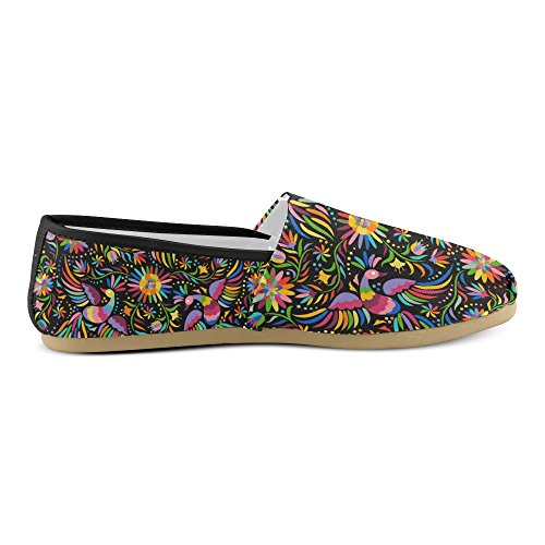 D-etasjers Mote Joggesko Flats Klassiske Slip-on Canvas Sko Loafers Multicoloured21