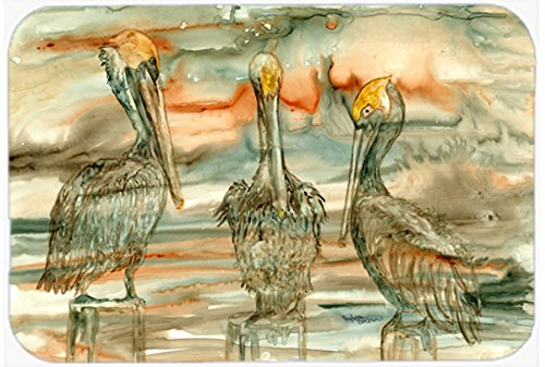 Multicolor 20 H x 30 W Carolines Treasures 8980CMTPelicans on their perch Abstract Kitchen or Bath Mat