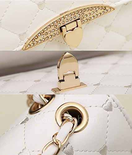 Hobo Korean White Lady Purse Shoulder Leather PU Handbag Black Totes Women wangxiyan Bag td7wq7
