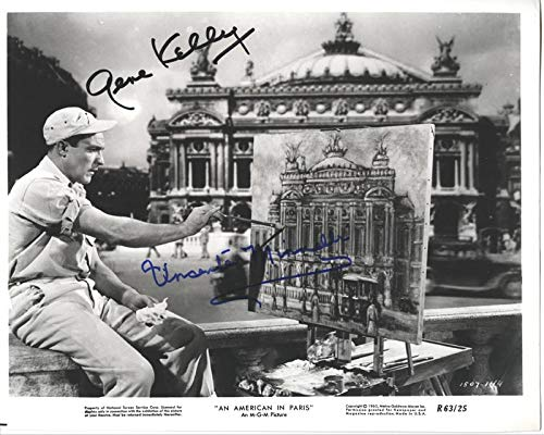 (An American In Paris Movie Cast - Photograph Signed co-signed by Vincente Minnelli, Gene Kelly)