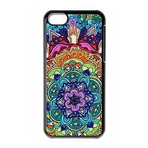 Hard back case with Mandala logo for iPhone 5C