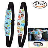 LLOP 2Pcs Infants Baby Sleeping Head Support and Toddler Car Seat Neck Relief Pram Stroller Safety Seat Fastening Belt Adjustable Head Support for Car Seat with Fluorescent Wristband (Style 1)