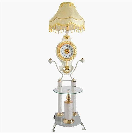 JYXPOWER Lampara de pie,Salon Lámpara de pie Mesa de Reloj 3-en-1 ...