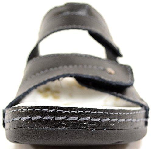Dames / Heren Echt Leer Slip Op De Zomer / Vakantie / Strand Sandalen / Schoenen Zwart