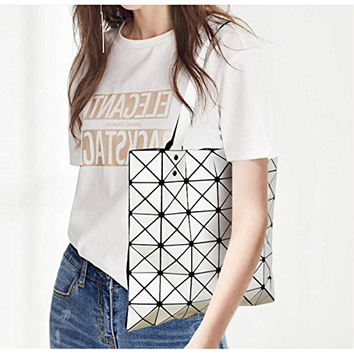 Sac white En Géométrique Sac Mode épaule Féminin Petit Laser Sac Sac La Lady Portable Carré Sac Diamant Lingge Petit Créatif q6XHEWn1