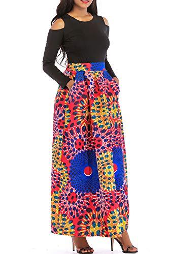 Vestido Coctel Piezas Africanas 7redblue Linea Yacun De Una Las Dos Imprimir Larga Mujeres 0wE84qPT
