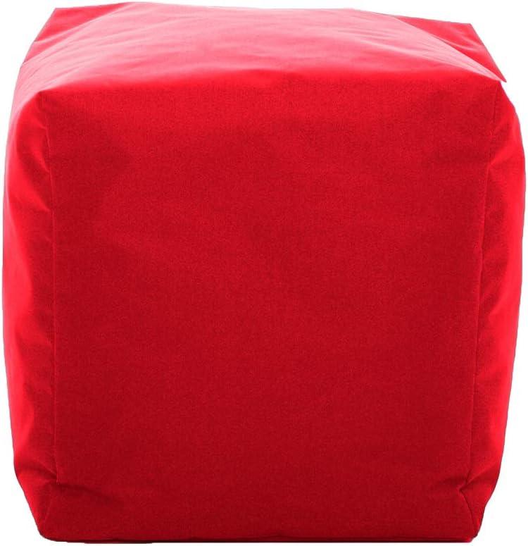 GlueckBean Pouf Cube pour ext/érieur et int/érieur 42 x 42 x 42 cm Orange