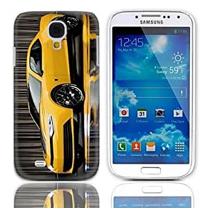 LIMME Yellow Coupe Pattern Hard Case with 3-Pack Screen Protectors for Samsung Galaxy S4 mini I9190