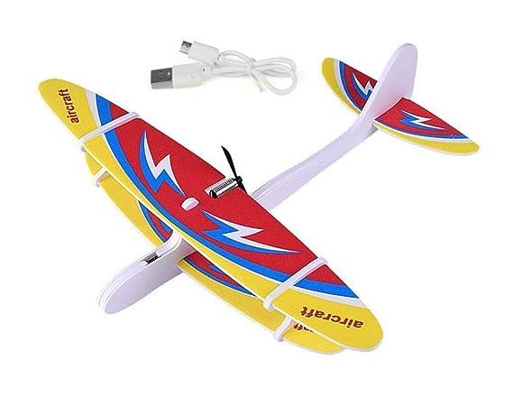 Amitasha Rechargeable Flying Glider Foam Plane Aeroplane Toy for Kids