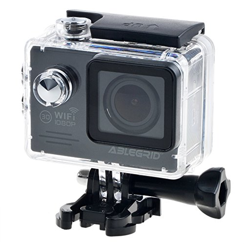 "ABLEGRID AG5000 WIFI Novatek 96658 14MP 2.0"" LCD 1080P 170 Degree Wide Angle Sports DV Waterproof Action Camera Camcorder Outdoor for Bicycle Motorcycle Diving Swimming Black"