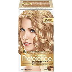 L'Oréal Paris Superior Preference Permanent Hair Color, 8G Golden Blonde