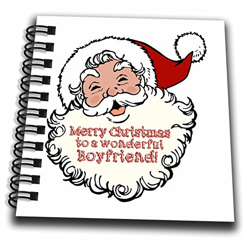 3droseラス・ビリントン・デザインクリスマスデザイン–Merry Christmas to a wonderfulカプルFunny Laughingサンタデザイン–Drawing Book 4x4 notepad db_261776_3