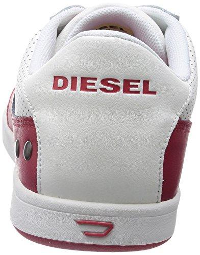 Diesel Mens Eastcop Gotcha Mode Gymnastiksko H Vit / Tango Röd