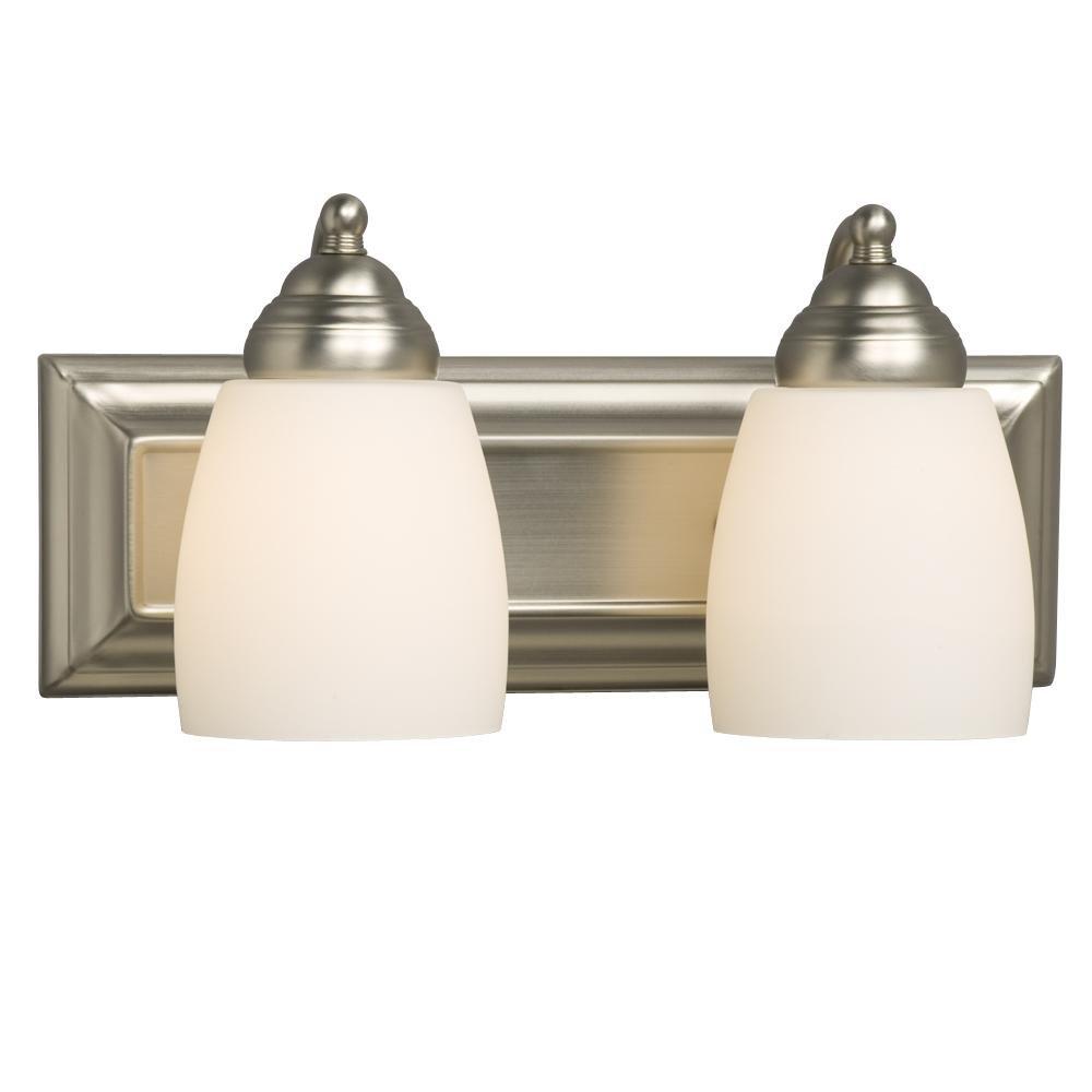 Galaxy Lighting BN Light Barclay Bathroom Light Vanity - Bathroom light fixtures 2 lights