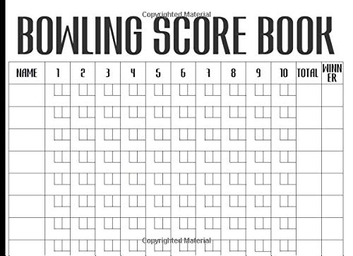 Bowling Score Book: Keep Track Of Scores During Your Bowling Game With Your Club, Friends Or Family por Happiness Your Own Way